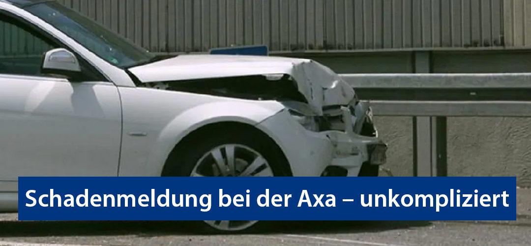 Schadenmeldung bei der Axa – unkompliziert Unfall melden