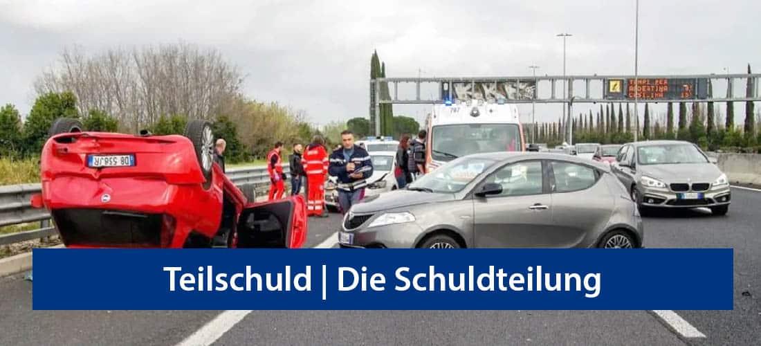 Teilschuld | Die Schuldteilung bei Autounfällen